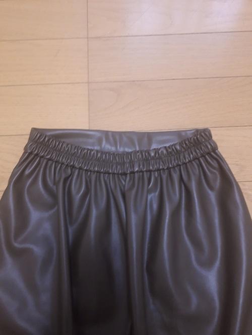 フェイクレザースカート 大きいサイズ ウエストゴム Pierrot 購入レビュー 感想