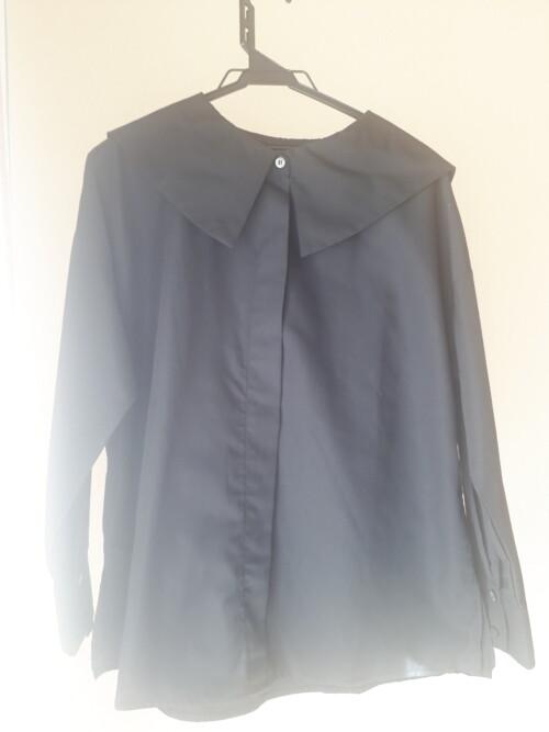 ビッグ襟ブラウス シャツ アラフォー 似合う 大人コーデ ポイント